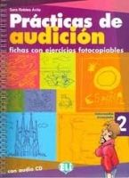 ELI s.r.l. PRACTICAS DE AUDICION 2 - Photocopiable + CD cena od 671 Kč