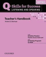 OUP ELT Q: SKILLS FOR SUCCESS INTRO LISTENING & SPEAKING TEACHER´S H... cena od 606 Kč