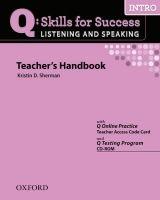 OUP ELT Q: SKILLS FOR SUCCESS INTRO LISTENING & SPEAKING TEACHER´S H... cena od 636 Kč