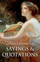 OUP References OXFORD TREASURY OF SAYINGS AND QUOTATIONS Fourth Edition - R... cena od 0 Kč