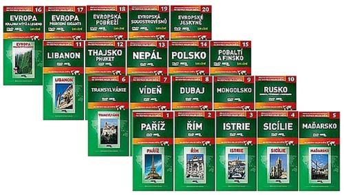 Na cestách kolem světa 1 - 20 DVD cena od 263 Kč