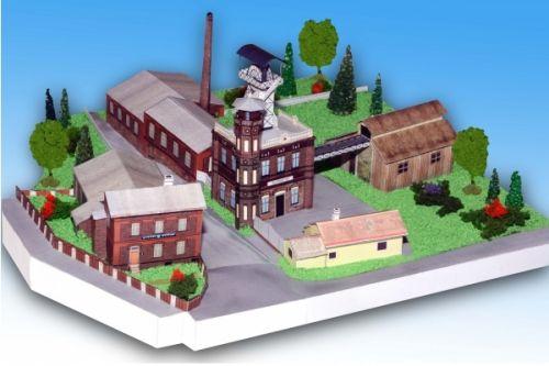 Důlní muzeum Příbram - Ševčínský důl - Stavebnice papírového modelu cena od 82 Kč