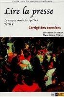 PUG LIRE LA PRESSE Corrigés - CHOVELON, B., MORSEL, M., H. cena od 321 Kč