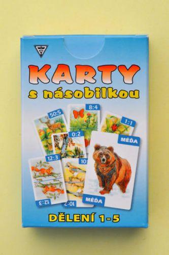 Dobruška Flösslerová: Karty s násobilkou dělení 1-5 cena od 94 Kč