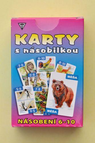 Dobruška Flösslerová: Karty s násobilkou - Násobení 6-10 cena od 94 Kč