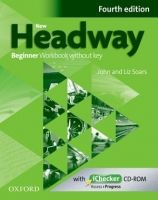 Soars John and Liz: New Headway Fourth Edition Beginner Workbook Without Key with iChecker CD-ROM cena od 199 Kč