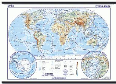 Kartografie PRAHA, a. s. Svět - školní - obecně zeměpisný - nástěnná mapa - 1:28 000 ... cena od 959 Kč