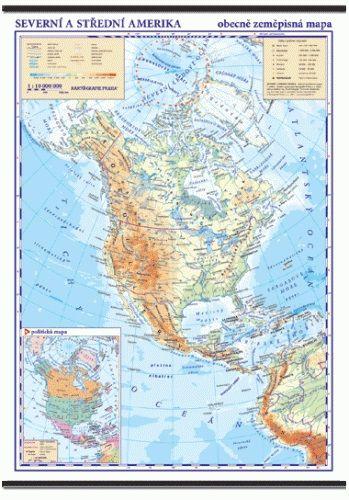 Kartografie PRAHA, a. s. Severní a Střední Amerika - nástěnná obecně zeměpisná mapa -... cena od 1039 Kč