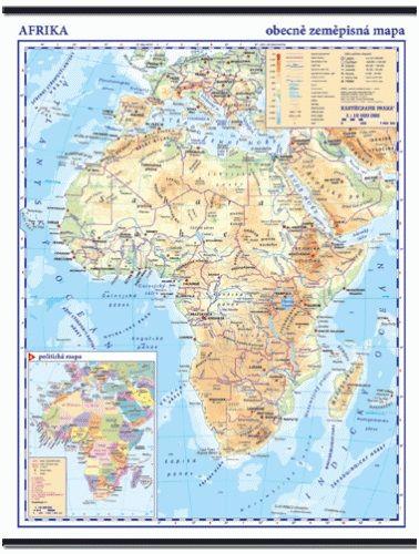 Kartografie PRAHA, a. s. Afrika - obecně zeměpisná nástěnná mapa - 1:10 000 000 cena od 999 Kč