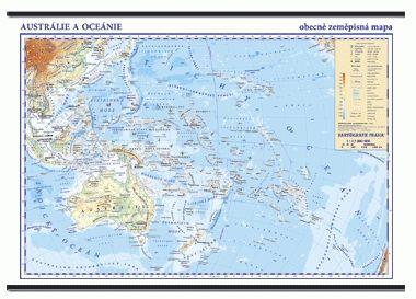 Kartografie PRAHA, a. s. Austrálie, Oceánie - nástěnná obecně zeměpisná mapa - 1 : 13... cena od 799 Kč