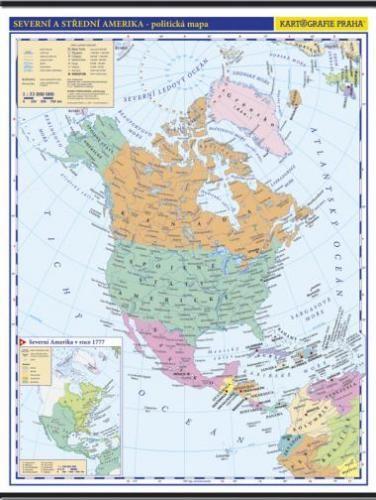 Kartografie PRAHA, a. s. Amerika - Severní a Střední -školní- politická - nástěnná ma... cena od 999 Kč