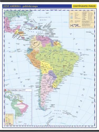 Kartografie PRAHA, a. s. Jižní Amerika -školní- politická - nástěnná mapa - 1:10 000 ... cena od 999 Kč