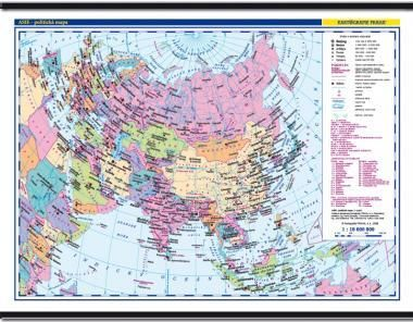 Kartografie PRAHA, a. s. Asie -školní- politické rozdělení - nástěnná mapa - 1:10 000... cena od 999 Kč