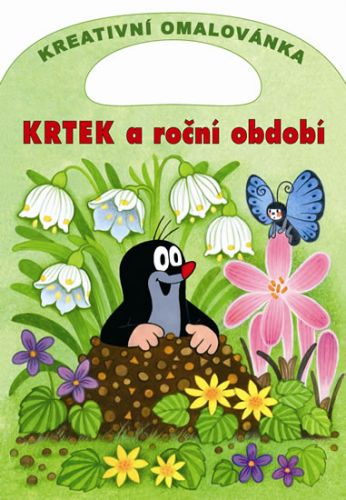 Zdeněk Miler: Krtek a roční období - Kreativní omalovánky A4 s výsekem cena od 41 Kč