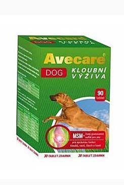 Aveflor Avecare Dog kloubní výživa MSM plus glukosamin 90 tablet