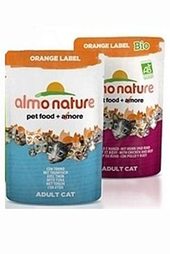 Almo Nature Orange Label Bio kuře plus hovězí 70 g