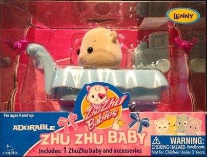 Cepia Zhu Zhu Babies Miminko v kočárku Lenny
