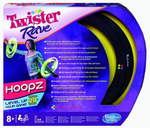 HASBRO Twister Rave taneční světelné a barevné obruče cena od 372 Kč