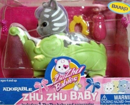 Cepia Zhu Zhu Babies Miminko v kočárku Baako