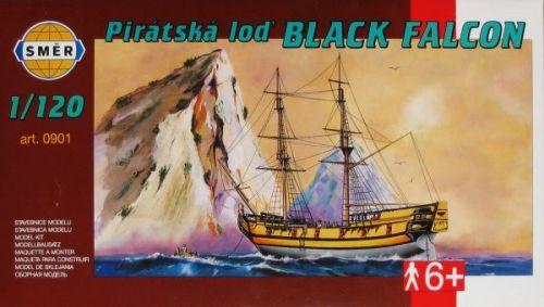 SMĚR Pirátská loď BLACK FALCON 1:120 cena od 100 Kč