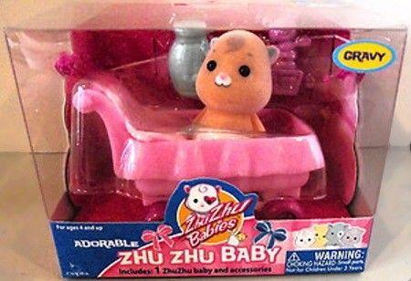 Cepia Zhu Zhu Babies Miminko v kočárku Gravy