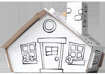 Calafant Kartonový model Domeček