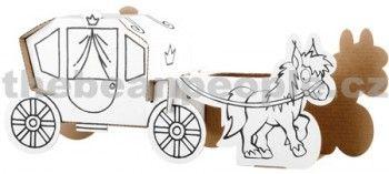 Calafant Kartonový model Kočár s koňmi cena od 0 Kč