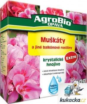 AgroBio Krystalické hnojivo AgroBio Extra Muškáty 400 g