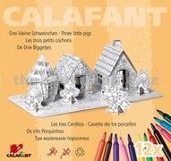 Calafant Kartonový model Tři malá prasátka