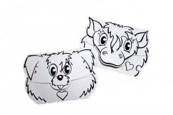 Calafant Masky z kartonu CALALINOS Pes + Kůň cena od 77 Kč