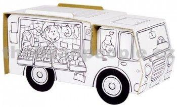 Calafant Kartonový model Pojízdná farmářská prodejna cena od 82 Kč