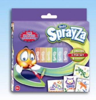 RenArt Sprayza 6-Pen & Stencils Pack cena od 119 Kč