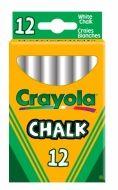 Crayola bílé křídy AntiDust 12 ks
