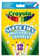 Crayola zářivé fixy Supertips 12 ks cena od 0 Kč