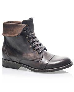Baťa - Kožená kotníčková šněrovací obuv 594-4934