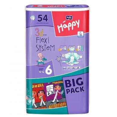 Bella Happy Junior Extra velikost 6 dětské pleny 54 kusů