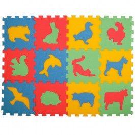 MALÝ GÉNIUS Pěnový koberec Zvířátka