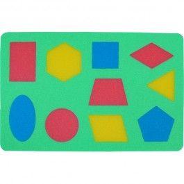 MALÝ GÉNIUS Pěnové puzzle Geometrické obrazce cena od 57 Kč