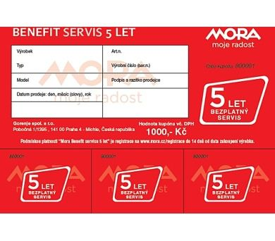 AKAI Mora Benefit bezplatný servis 5 let