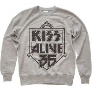 amplified Mens Alive 35 Kiss Oatmeal mikina