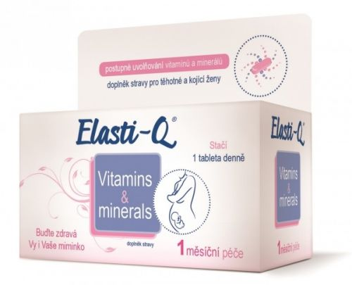Elasti-Q Vitamins & Minerals s post.uvolňov.30 tablet