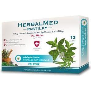 HerbalMed Dr.Weiss Eukalypt + máta + vitamín C 12 pastilky cena od 52 Kč