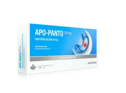 Apo Panto 20 mg 14 tablet cena od 104 Kč