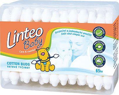 LINTEO Baby vatové tyčinky 65 ks cena od 15 Kč
