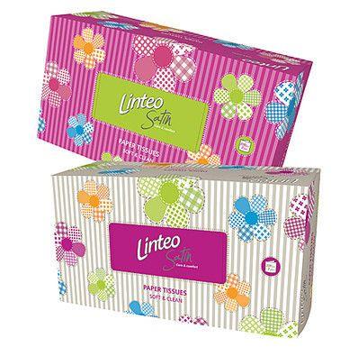 LINTEO Satin papírové kapesníky box 200 ks