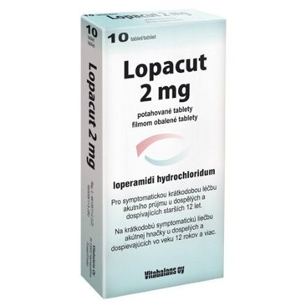 Lopacut 2 mg 10 tablet cena od 75 Kč