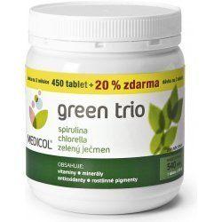 Green Trio Medicol Chlor.Spirul.Zelený ječmen 540 tablet