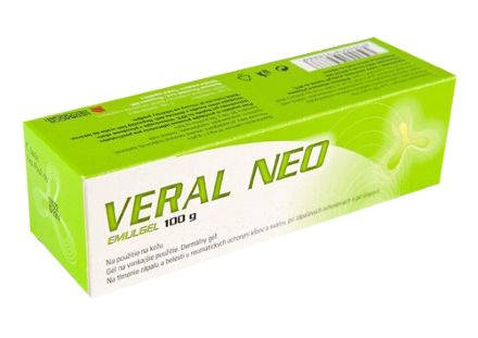 Veral Neo 1% gel1x100 g cena od 132 Kč
