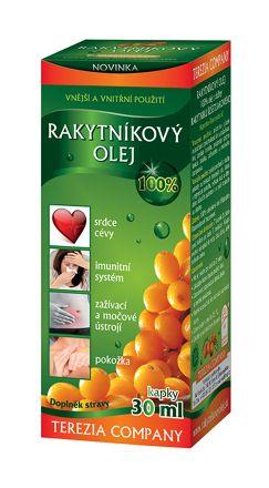Rakytníkový olej 100% v kapkách 30 ml
