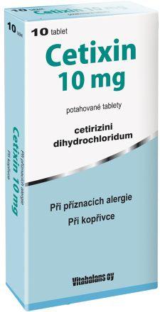 Cetixin 10 mg 10x10 mg cena od 30 Kč